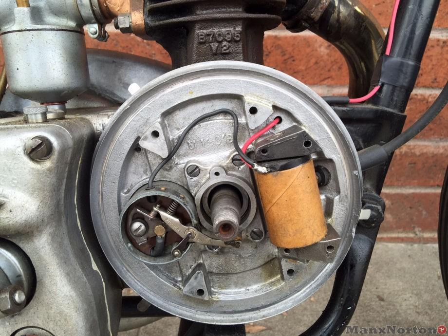 Ambador-1952-Villiers-CA-2 Wiring Spark Plug on