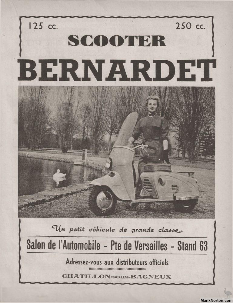 Bernardet Scooter 1953 Advertisement