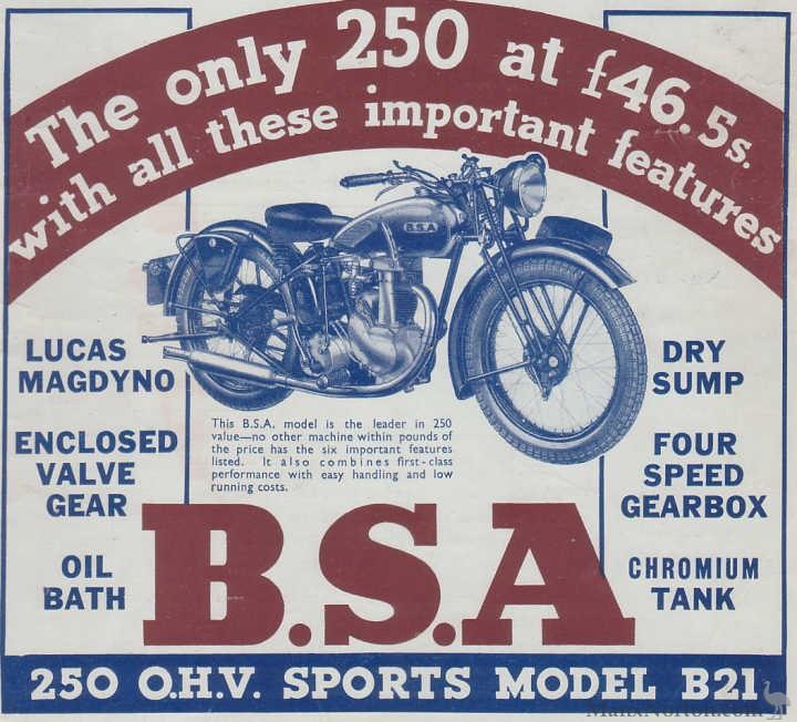 bsa 1938 b21 250cc ad