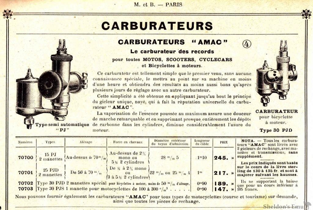 Amac British Motorcycle Carburettors