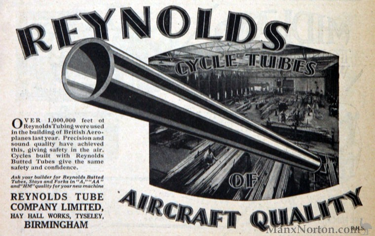 Reynolds Tube Co British Motorcycle Components