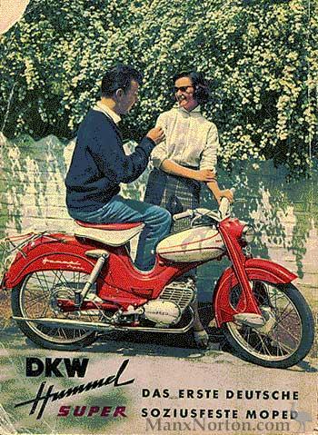 dkw 1958 hummel super advertisement. Black Bedroom Furniture Sets. Home Design Ideas