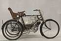 Excelsior 1903 Wicker Sidecar Combination