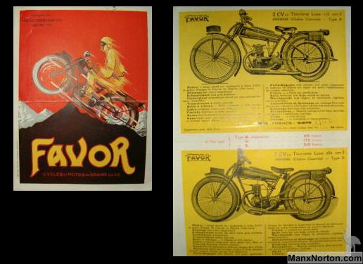 Favor Motorcycle Sales Brochure