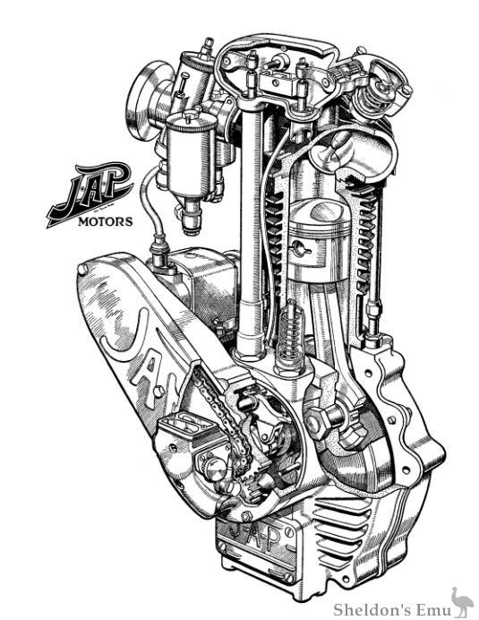single cylinder engine cutaway drawings