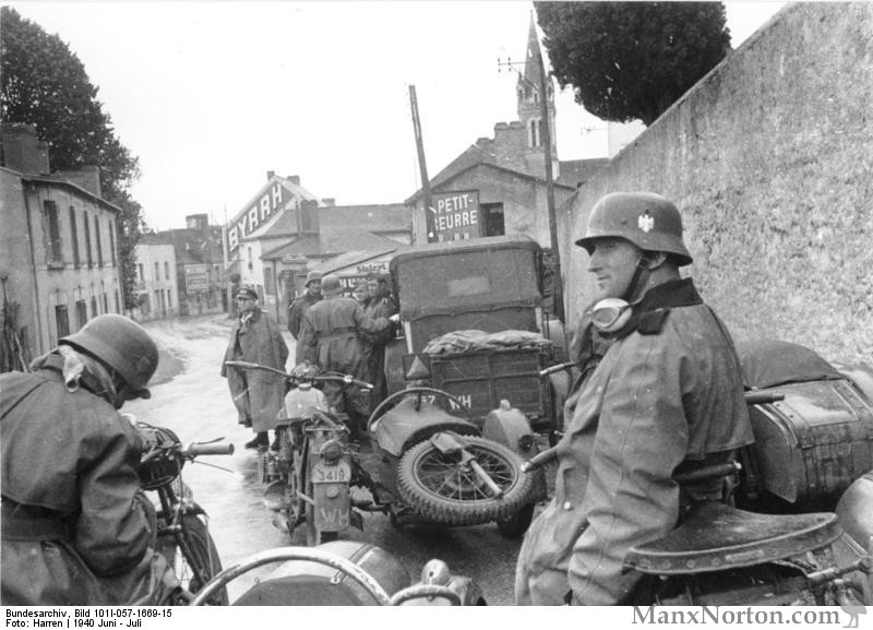 german motorcycles in france wwii