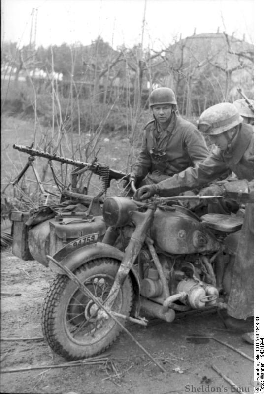 german wwii motorcycles