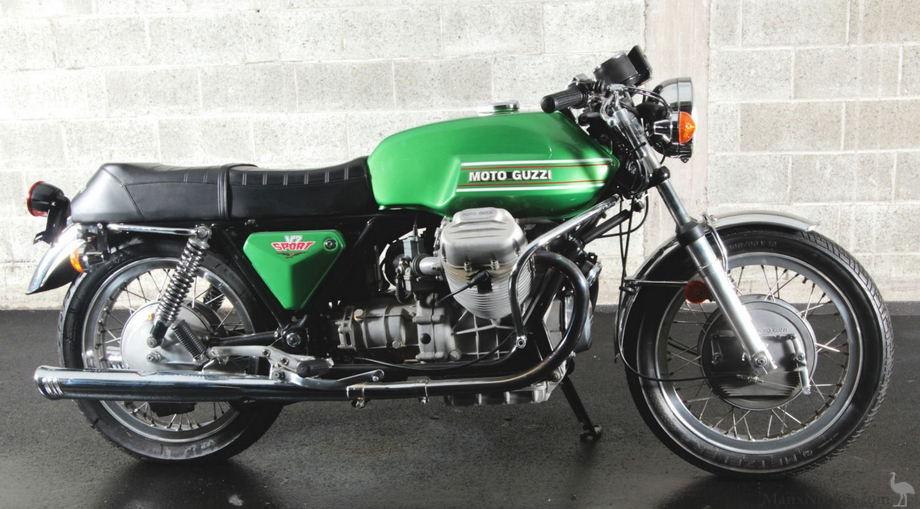 Pin 1973 Moto Guzzi V7 Sport Black L Side Classic Bikes For Sale