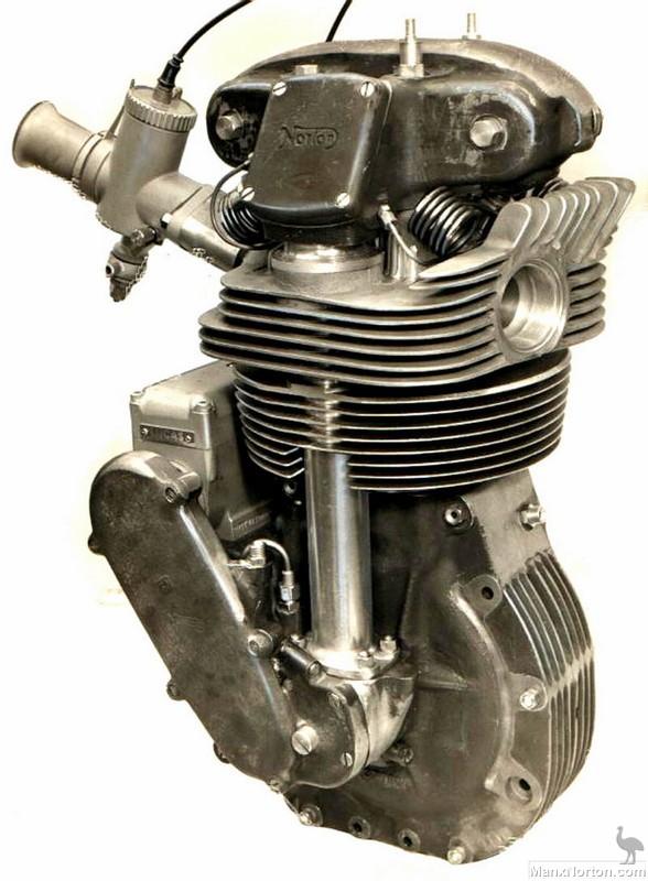 Norton Manx Engine Studio Photo