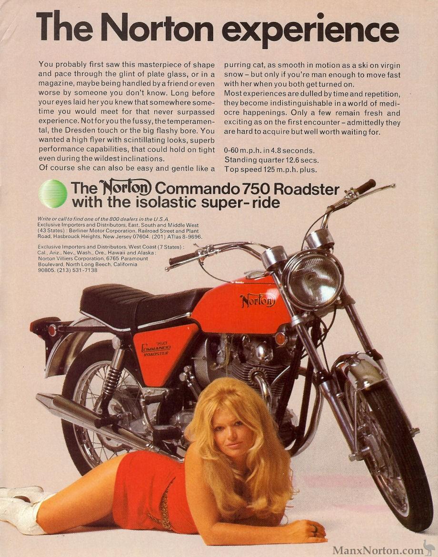 Norton Commando 750 Advert