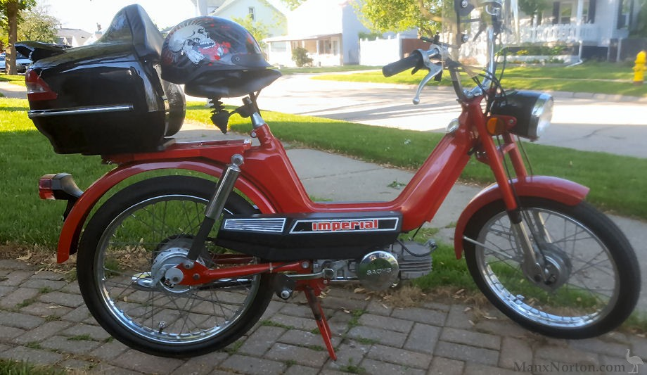 Columbia 1980 Imperial Sachs Moped border=
