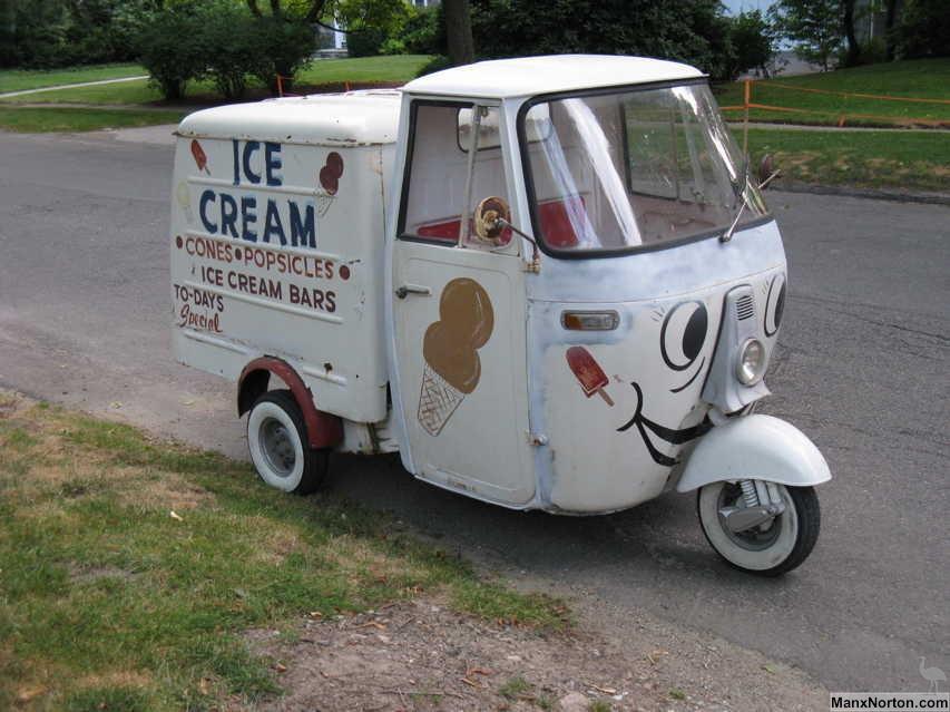 piaggio ape 1968 ice cream van. Black Bedroom Furniture Sets. Home Design Ideas