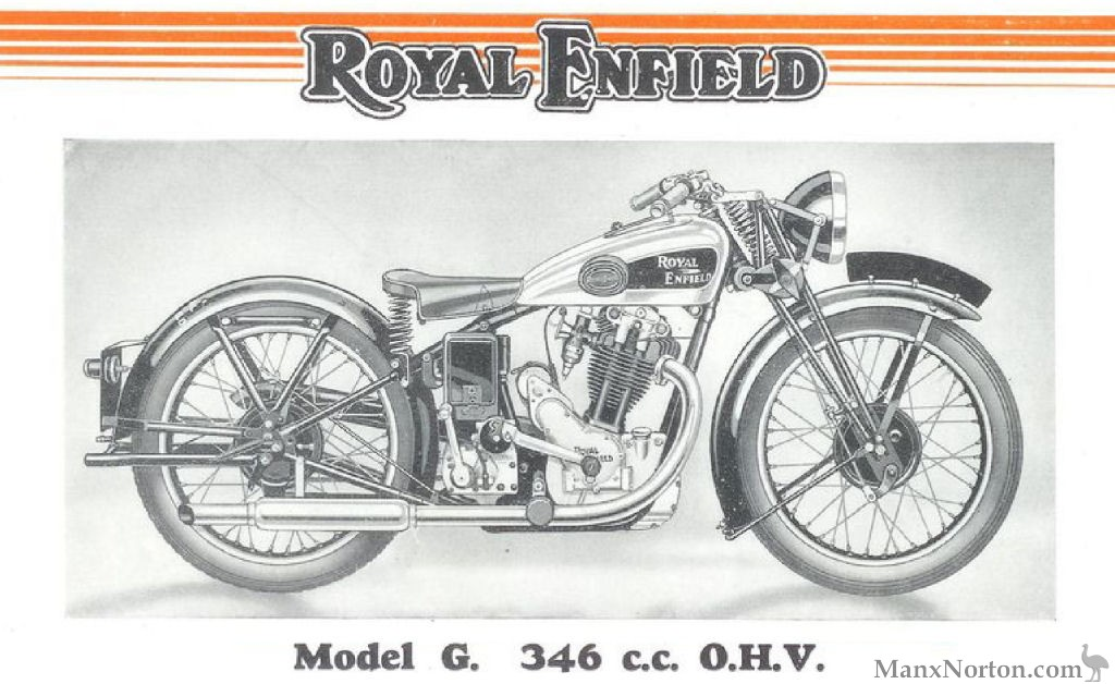 Royal Enfield 346cc Model G
