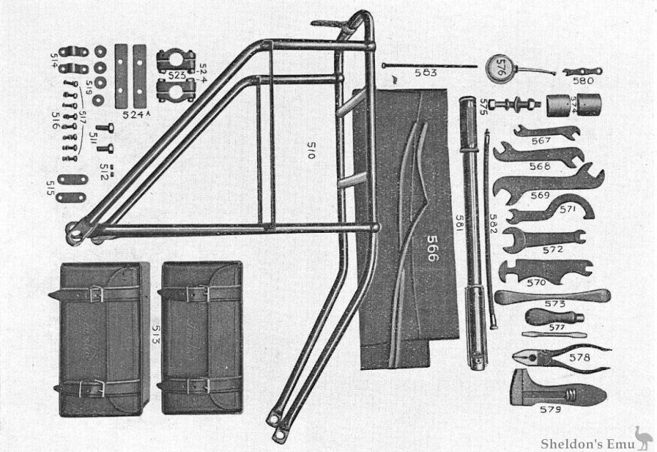 sarolea 1928 25n 350cc parts diagram