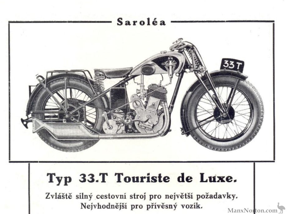 Sarolea 1933 Sidevalve 33t