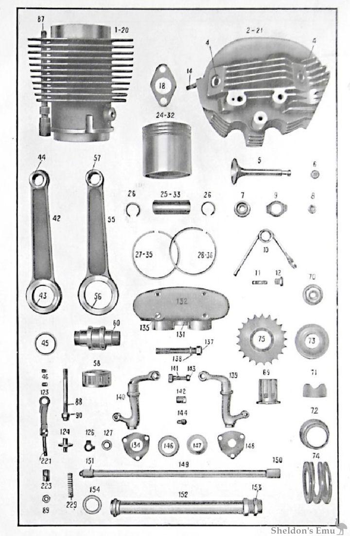 sarolea 1937 37s engine internals ohv