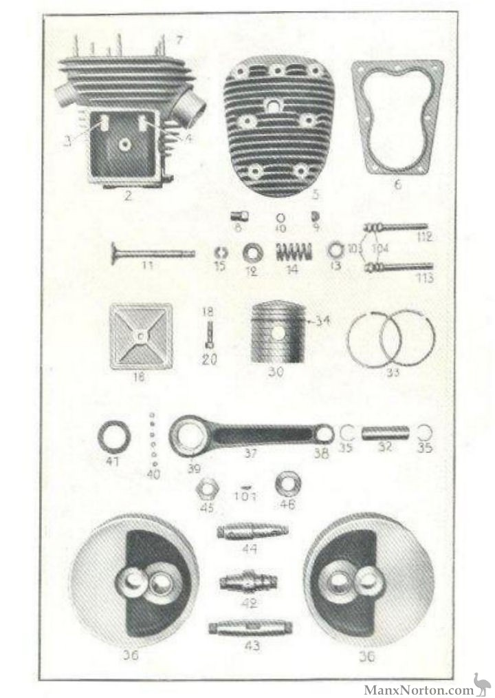 sarolea 1948 as sv engine parts