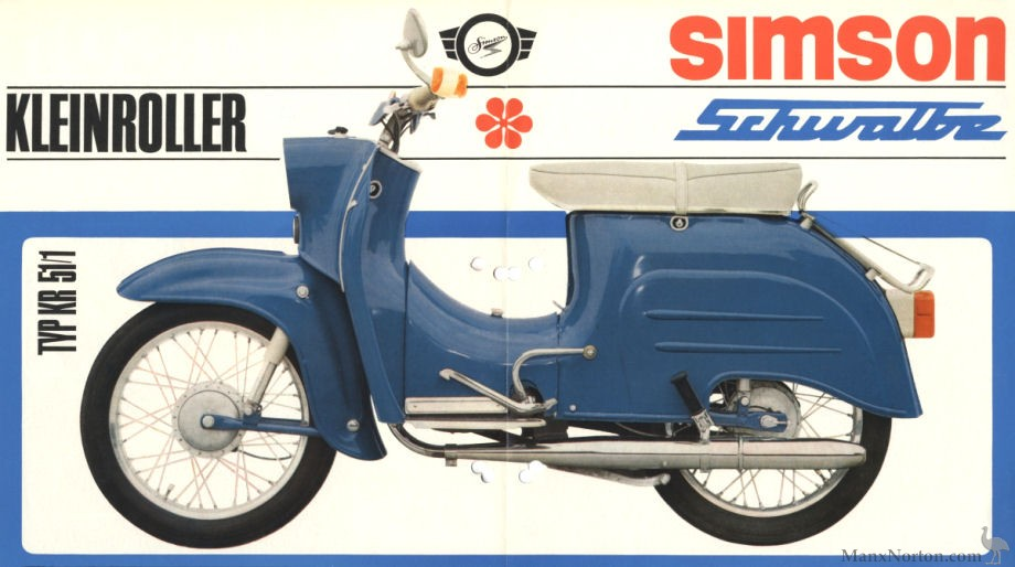 simson scwalbe 1970 kr 51 1 scooter