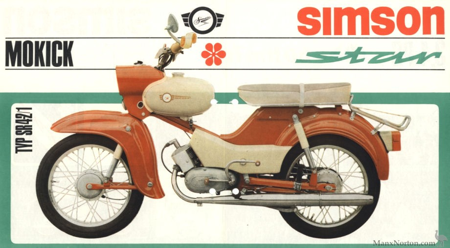 simson star type sr 4 2 1 1970 catalogue. Black Bedroom Furniture Sets. Home Design Ideas