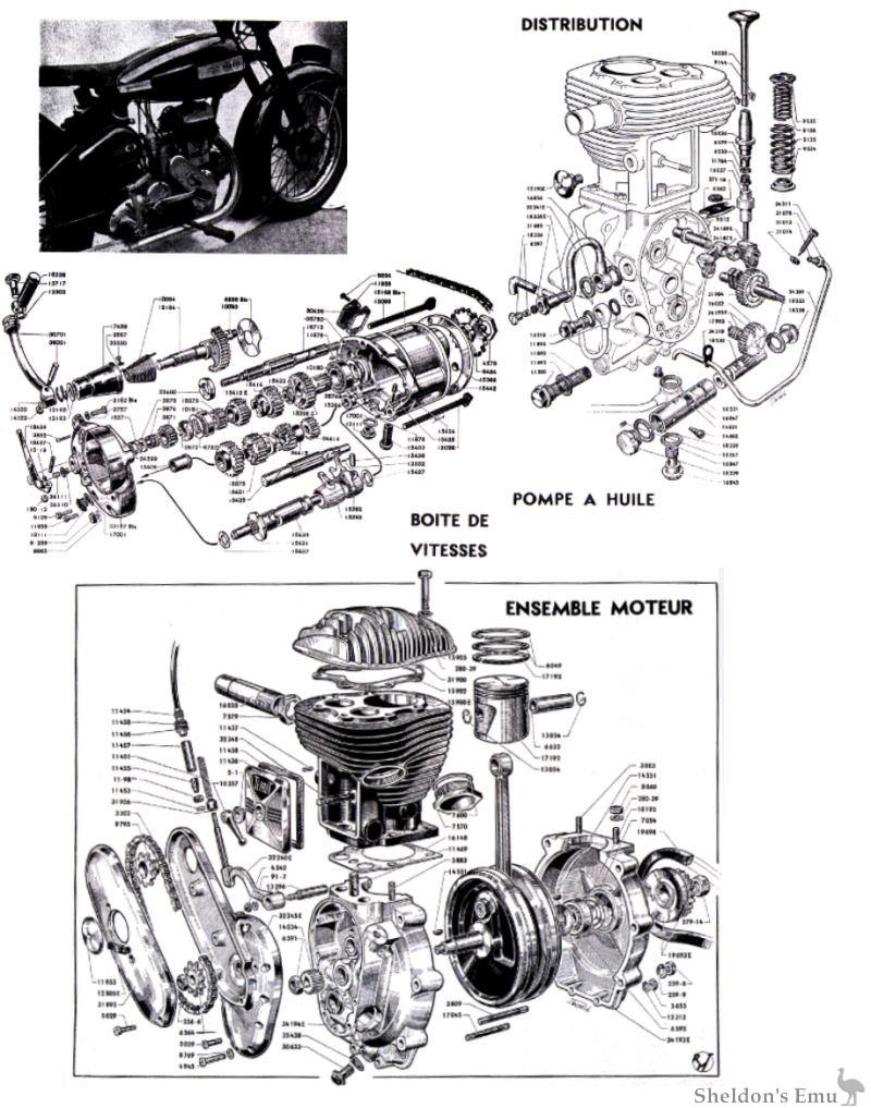 terrot 350cc hct diagrams