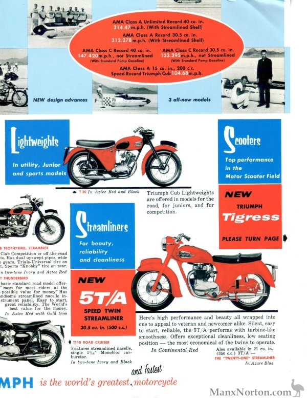 triumph 1959 brochure usa - 5ta