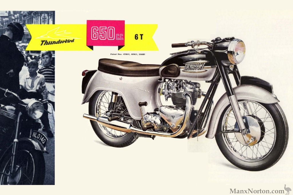 Triumph 1961 Thunderbird 6t 650cc Brochure