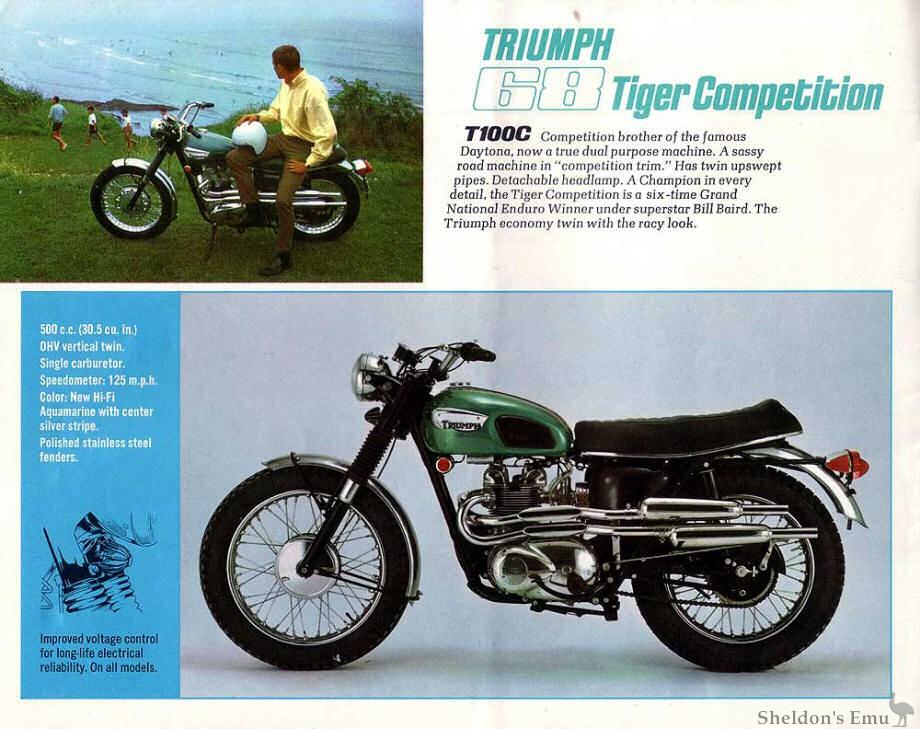 Triumph Tiger 500 1968 T100c