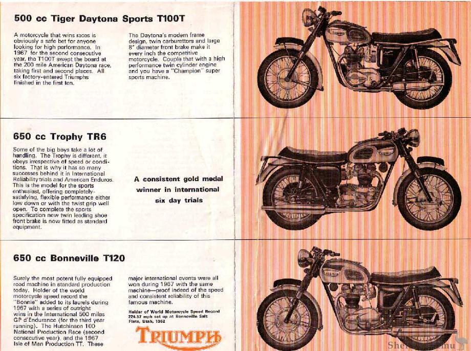 Triumph Catalogue 1968 500cc-650cc