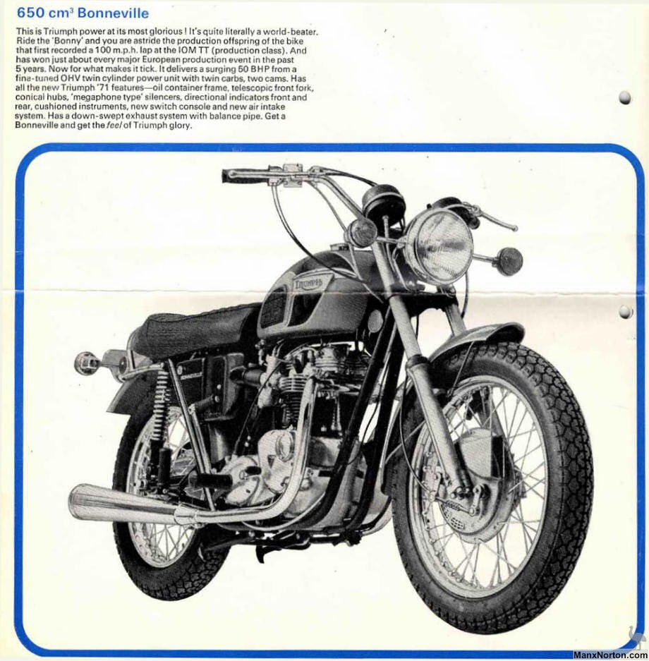 Triumph 650 Bonneville 1971