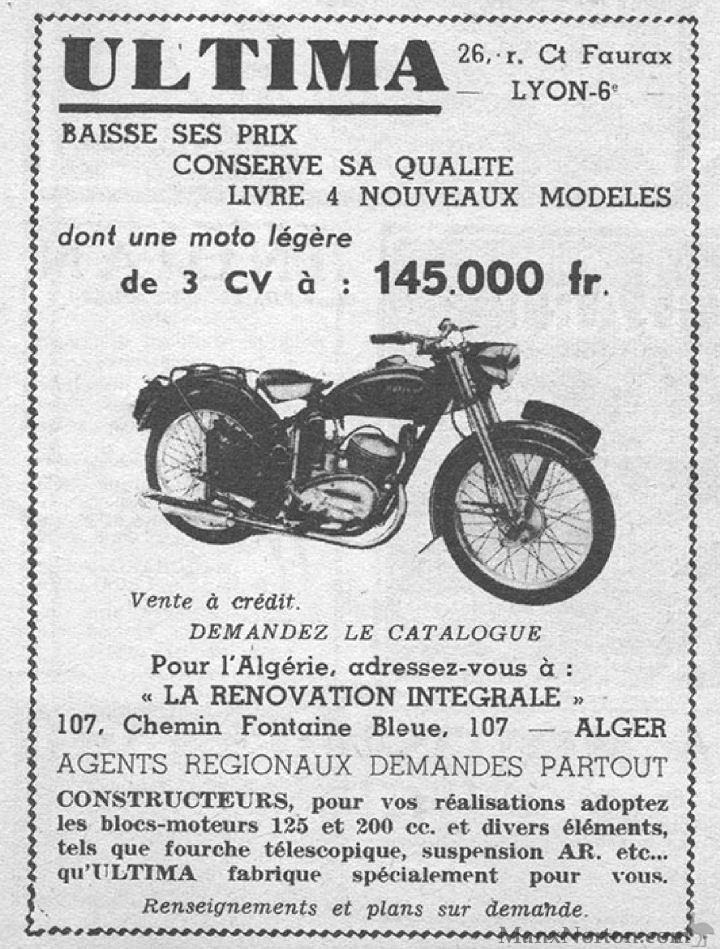 ultima 1953 125cc  u0026 200cc