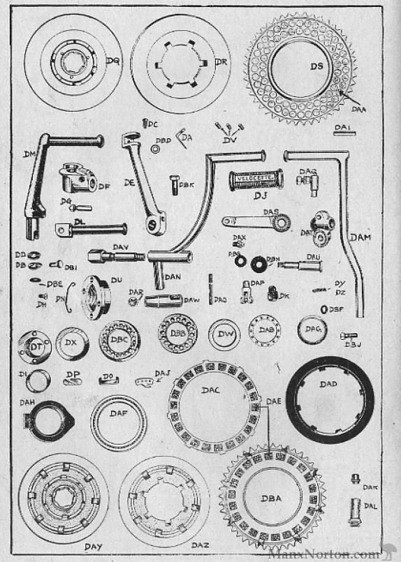 Velocette 1954 Mac Clutch Diagram
