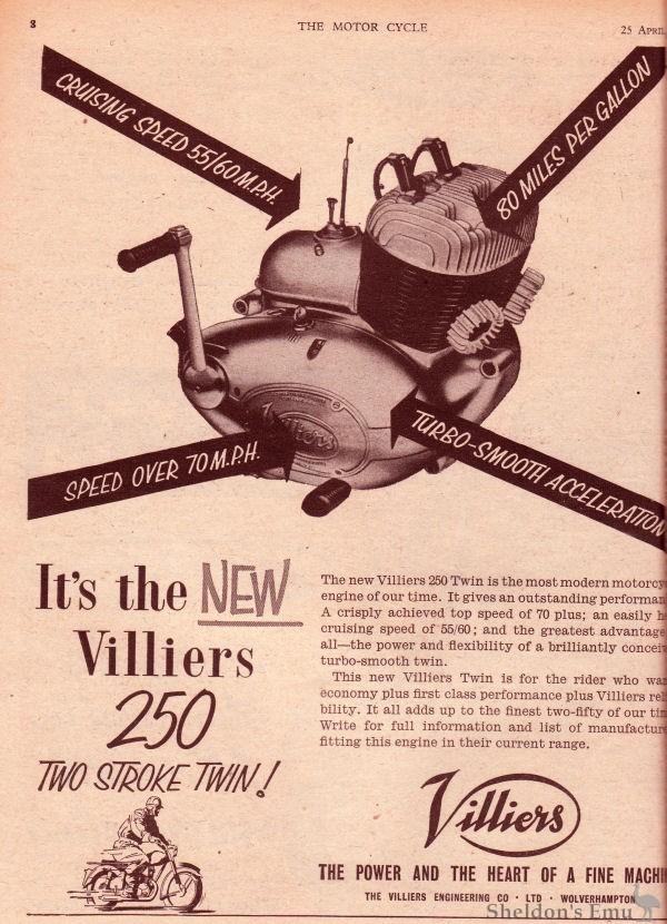 Villiers Engineering Co   British Motorcycles