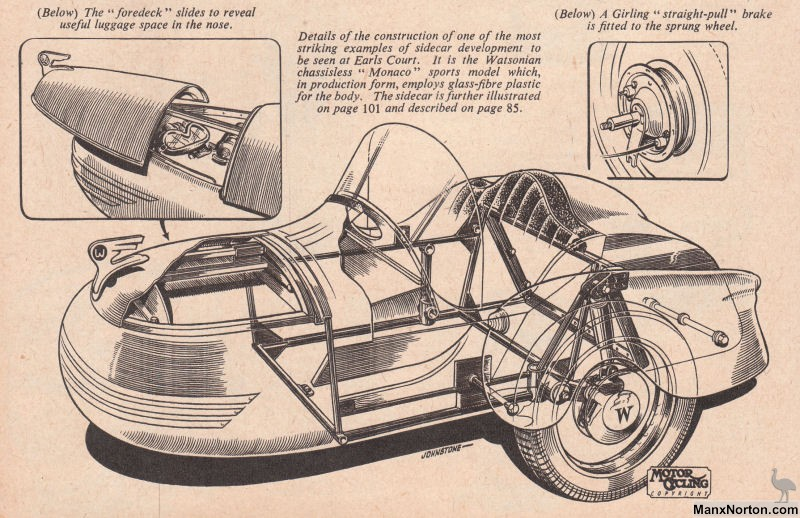 Bonneville And Son >> Watsonian Monaco 1954 Sidecar