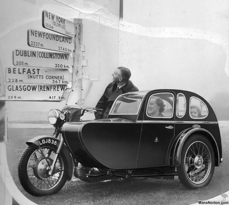 Bonneville And Son >> Watsonian Combination, Ireland 1950s