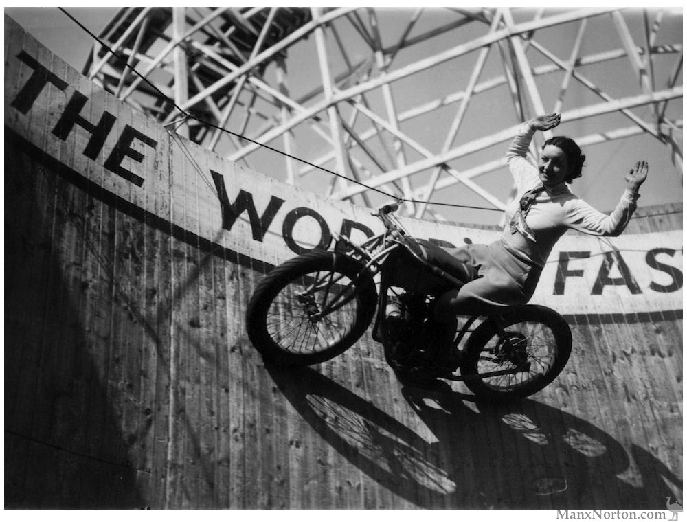 Marjorie Dare, Essex 1938, Wall of Death Rider