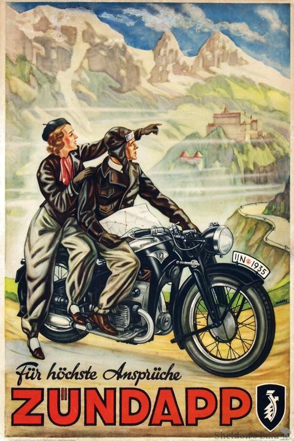 Zundapp 1935 Advertising Poster