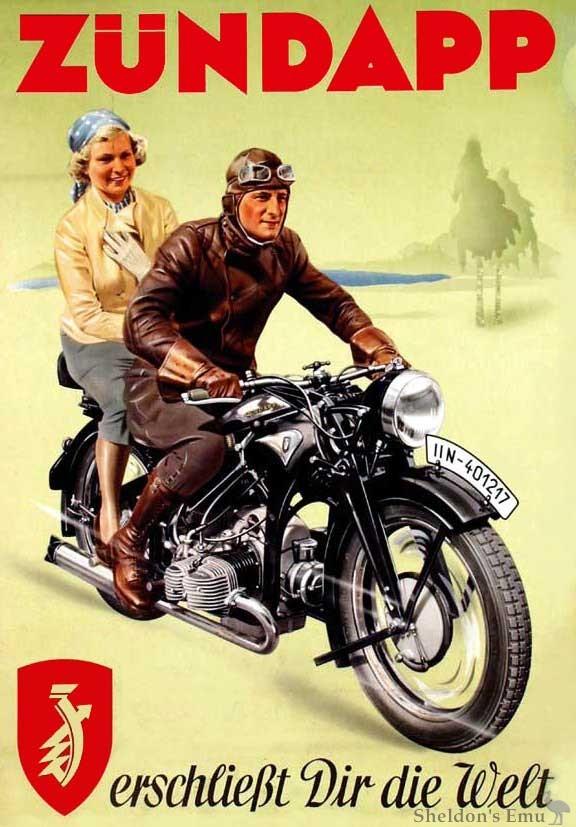 Zundapp 1936 Advertising Poster