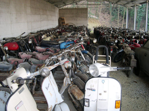 Vintage italian motorcycle collection for sale