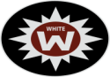 White Motorcycle Logo